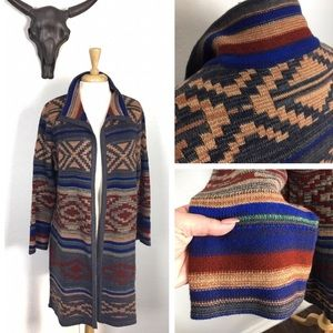 BoHo Western Knit Cardigan Duster Kimono Car Coat